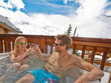 Chalet Cleopatra in Reberty in the 3 Valleys in the French Alps. Stay here for short break and full week ski holidays with Ski Weekends.