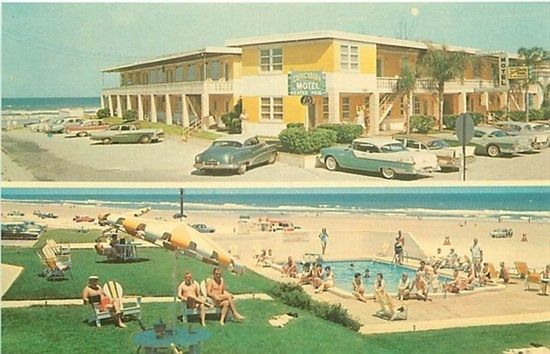 FL, Daytona Beach, Florida, Copacabana Motel, Multi View, Dexter No. 11907-B