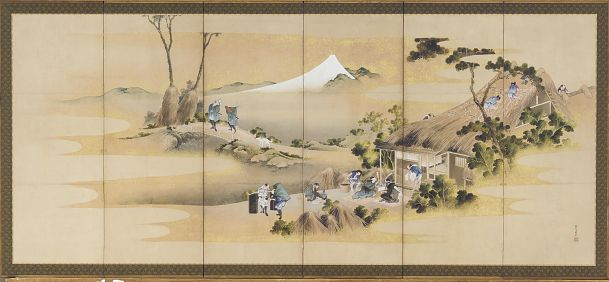 Country Scenes and Mount Fuji | Katsushika Hokusai | Japan | Ink, color and gold on paper | ca. 1830-1832 | Edo period | Freer and Sackler | F1902.48