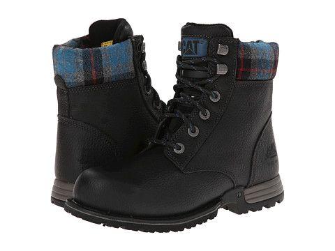 Construction Boots Caterpillar Kenzie Steel Toe Black Ventura - $130