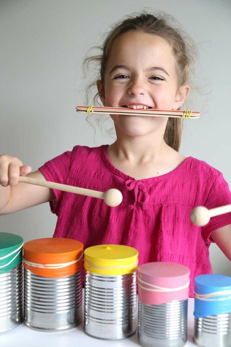 Musikinstrumente basteln – 10 kreative DIY-Projekte mit Kindern zum Nachmachen
