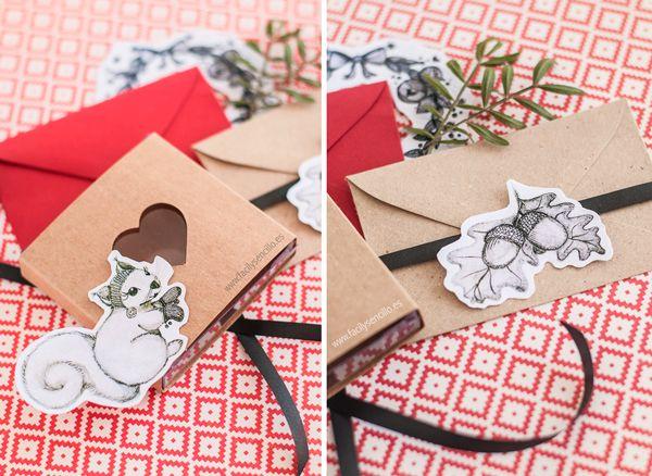 Ilustrated Christmas with FREEBIE!! / Dulces Regalos de Navidad Ilustrada con Freebie en www.facilysencillo.es #freebie #giftwrapping #illustration