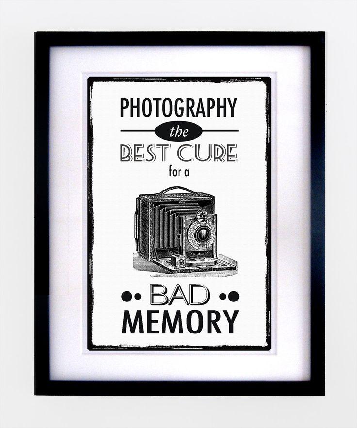 Vintage Photography Quote Print. $16.00, via Etsy.