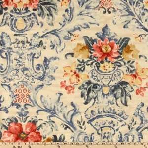 54 Wide Soriano Country French Indigo Fabric By The Yard