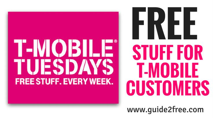 Get FREE Stuff for T Mobile Customers Every Tuesday!! Just for being a customer. No hoops. No strings. Download the free T‑Mobile Tuesdays app on  Android or iOS to get started, and check back weekly for the latest free stuff.