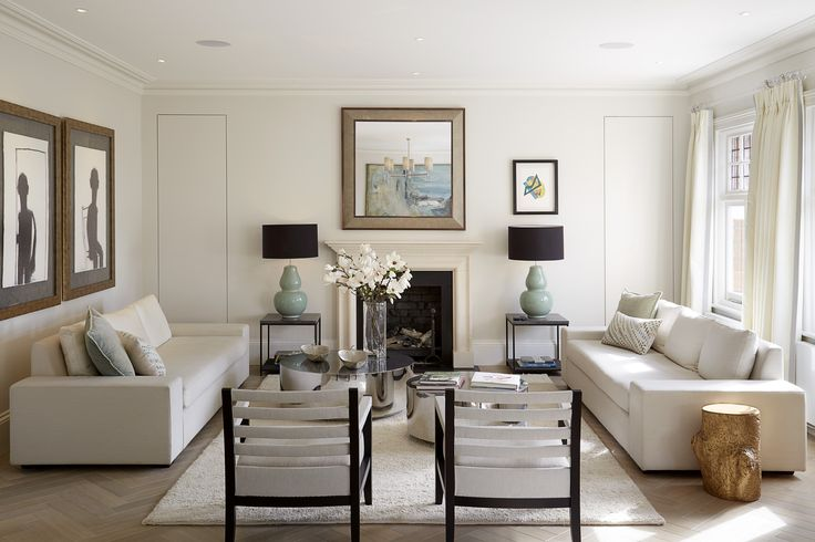 Living Room designed by Talia Cobbold Cadogan Court Development