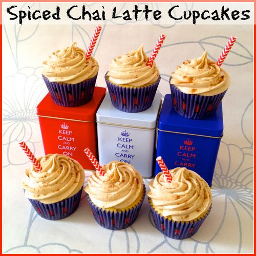 Spiced chai latte cupcakes | cookies & cupcakes | Pinterest