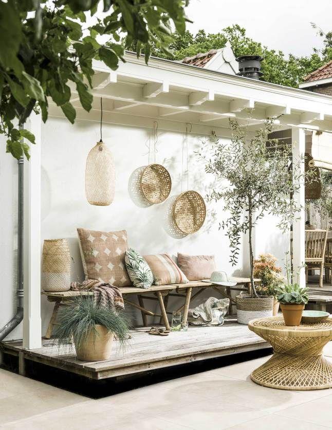 Un espace extérieur moderne et cosy. On aime !