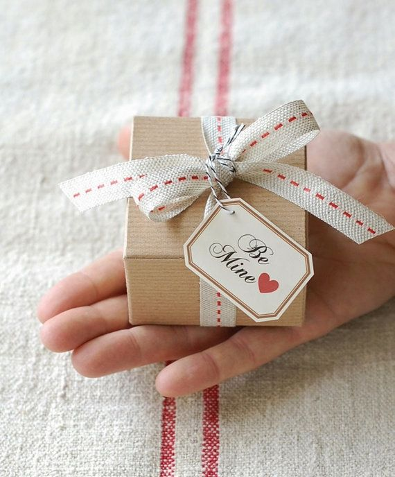 Be Mine - Valentine's Day Gift Box - 4 Guest-size Bars of Handmade Soap