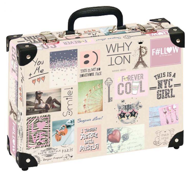 Školní kufřík velký - 35x25x11cm č. 21793 HK Velký FOREVER COOL JEANS