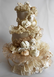 This is a REAL cake.  All edible decorations.  I am impressed.