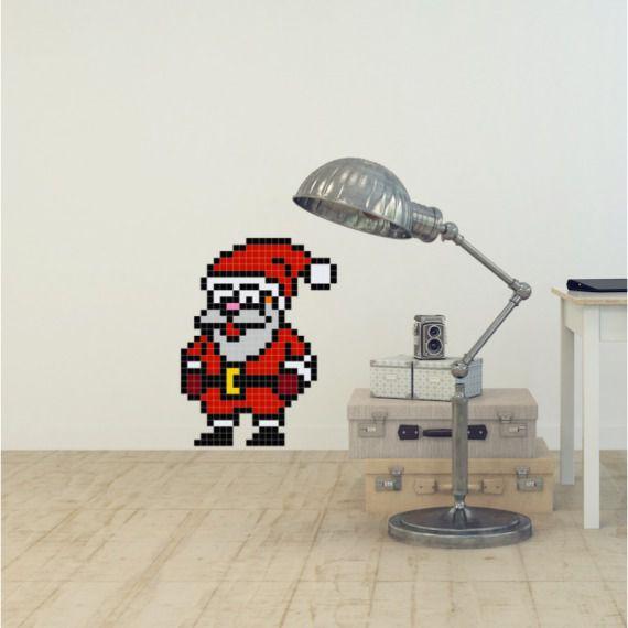 Wesoły Mikołaj - Puzzle do naklejania