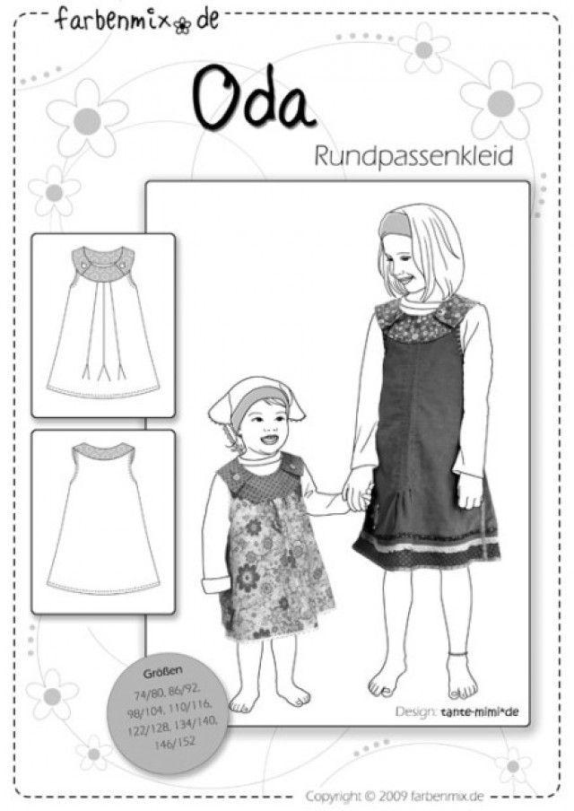 ODA, Papierschnittmuster - farbenmix Online-Shop - Schnittmuster, Anleitungen zum Nähen
