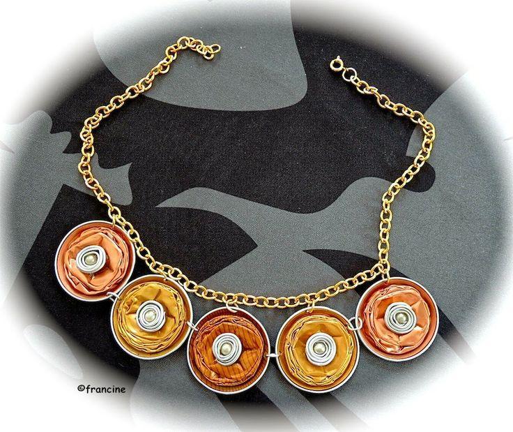 FRANCINE BRICOLE : Collier capsules Nespresso - 5 médaillons dans les...