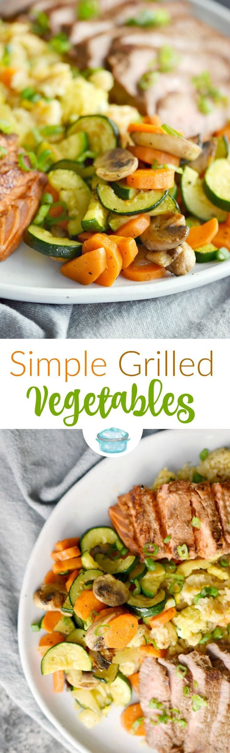 These Simple Grilled Vegetables are packed with flavor and make the perfect side dish any night of the week, and the whole family will love them! #grill #vegetables #dinnerfortwo #paleo #whole30 via @cookwithcurls http://grillidea.com/best-smoker-grills/