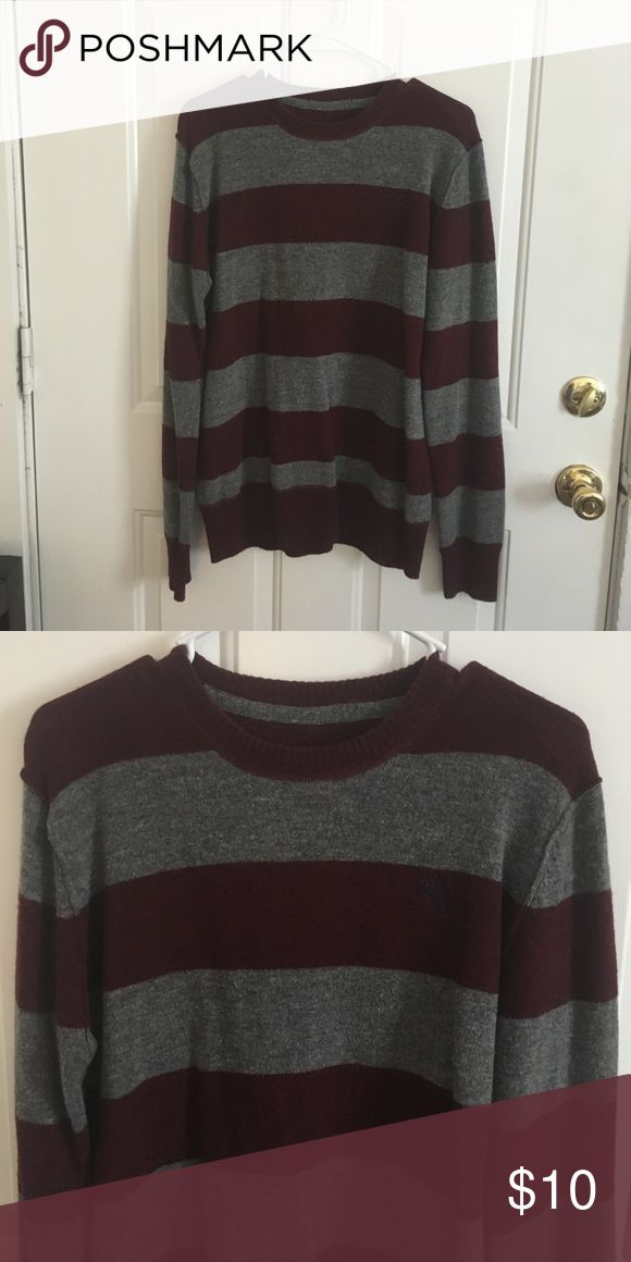 Men's Stripped wool Sweater Men's wool sweater size M. Medium thickness. Sweaters Crew & Scoop Necks