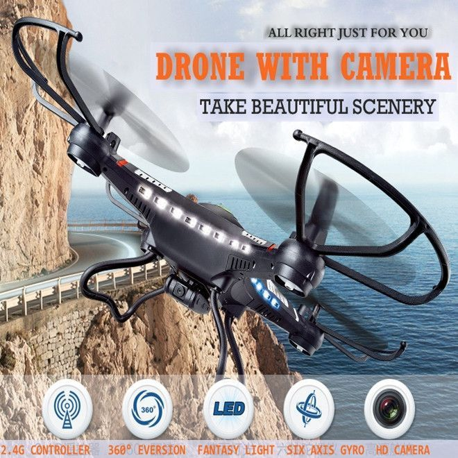Jjrc H8c Rc Drones With Camera Flying Camera Helicopter Radio Control Dron Rc Quadcopter Professional Drones Remote Control Toys  #Drone #Quadcopters #AerialPhotography #Travel #TheDroneHut