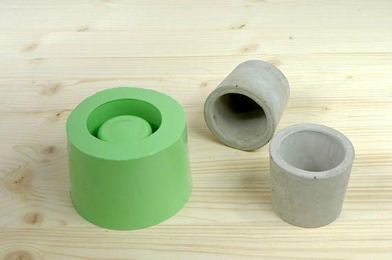 Concrete planter mold, Round cup concrete mould, Silicone concrete mold, Small planter mold, Concrete pot mold