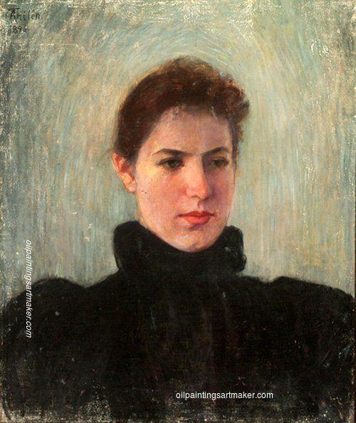 Ada Thilén Self-Portrait, painting Authorized official website