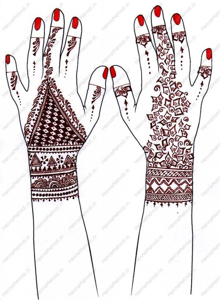 Pakistani Back Hand Mehndi design