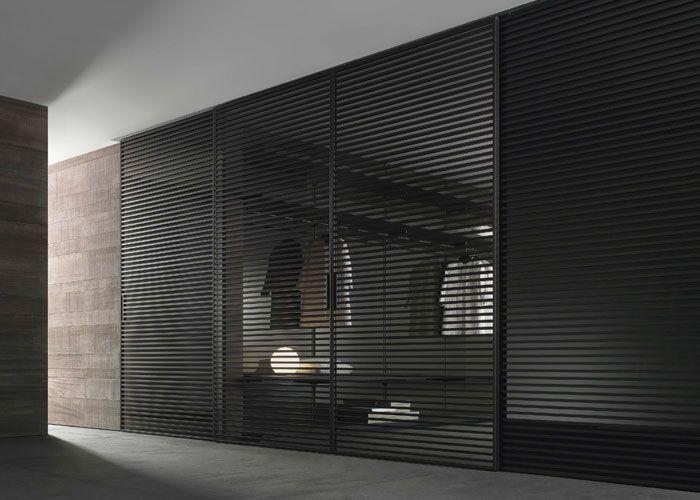 stripe glass doors by rimadesio