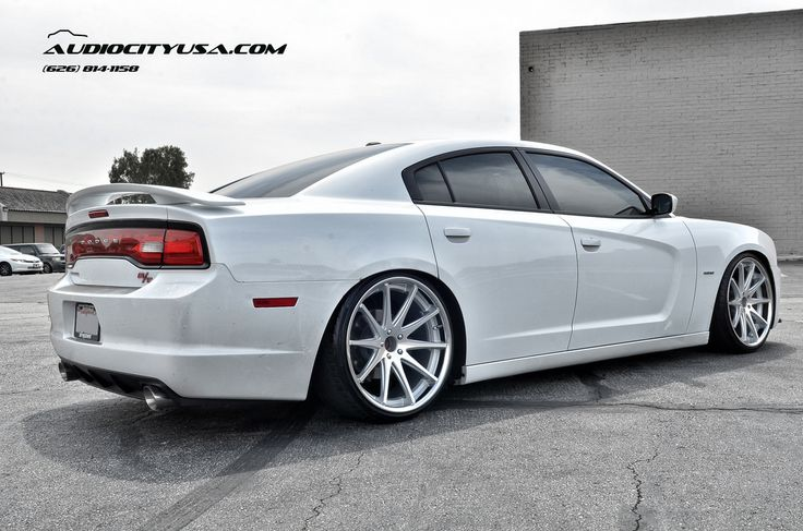 "STANCED 2013 Dodge Charger RT on 22"" Rohana RC-10 Silver face chrome concave rc10"