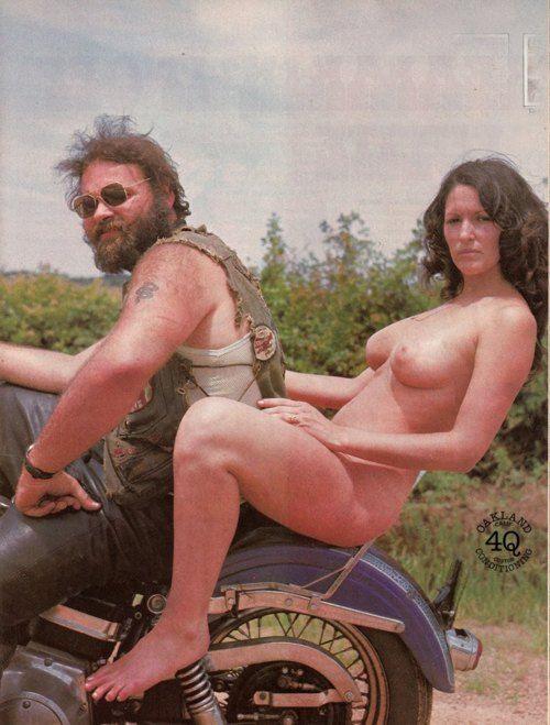 vintage nude biker photo