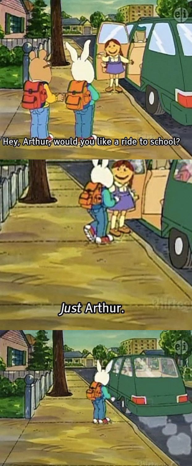 19 Times Arthur Was the Most Savage Show that Ever Existed.::|| When Muffy left Buster in the dust.