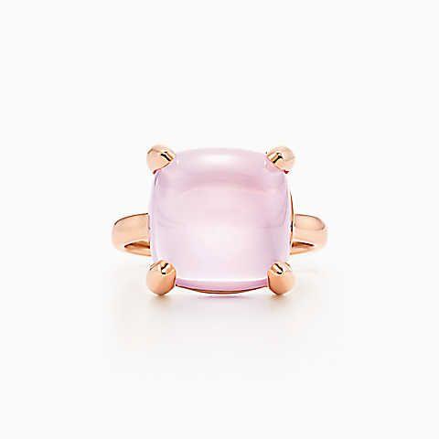 Кольцо Paloma's Sugar Stacks, розовое золото 18карат с розовым кварцем.