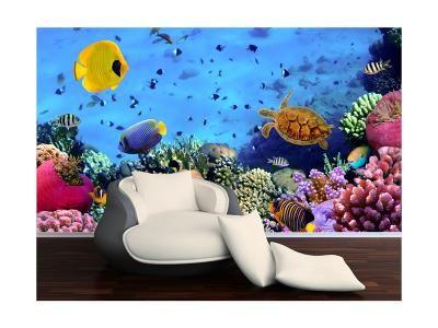 Xdecor Rybky v akváriu 3 (126 x 83 cm) -  Fototapeta na zeď