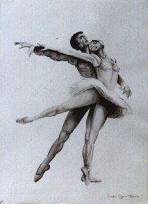"""Técnica: Tinta """"Bailarines"""""""