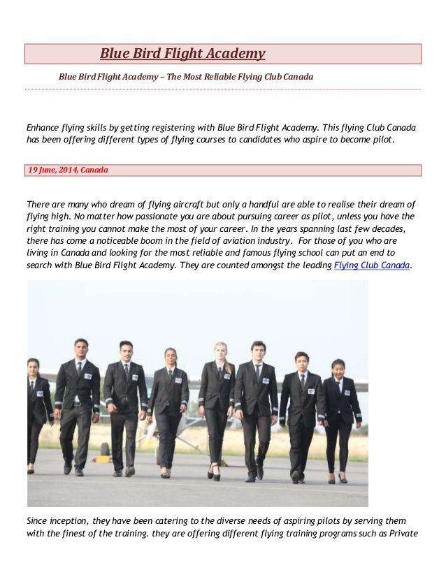 Blue Bird Flight Academy - Best Flying Club Canada,commercial pilot training by BLUE BIRD FLIGHT ACADEMY via slideshare