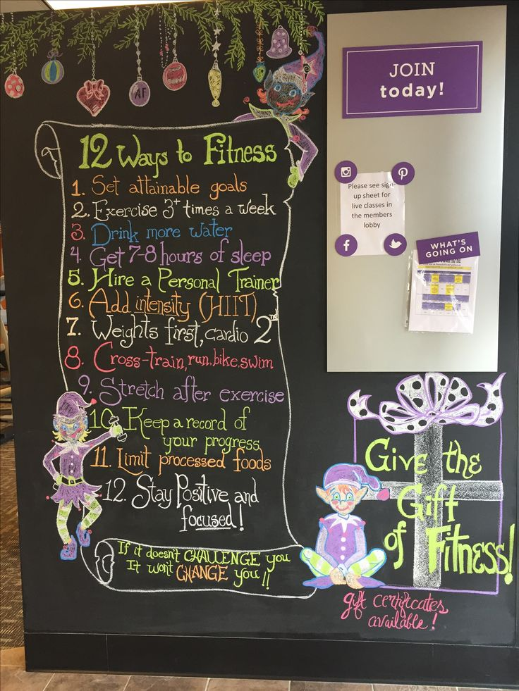 Chalk wall at Anytime Fitness