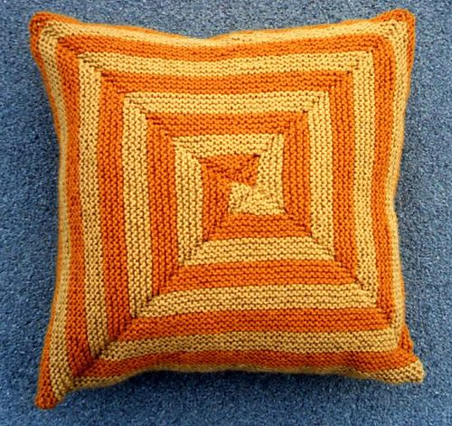 Roundabouts - Cushion with a square spiral (In Cushy Numbers)