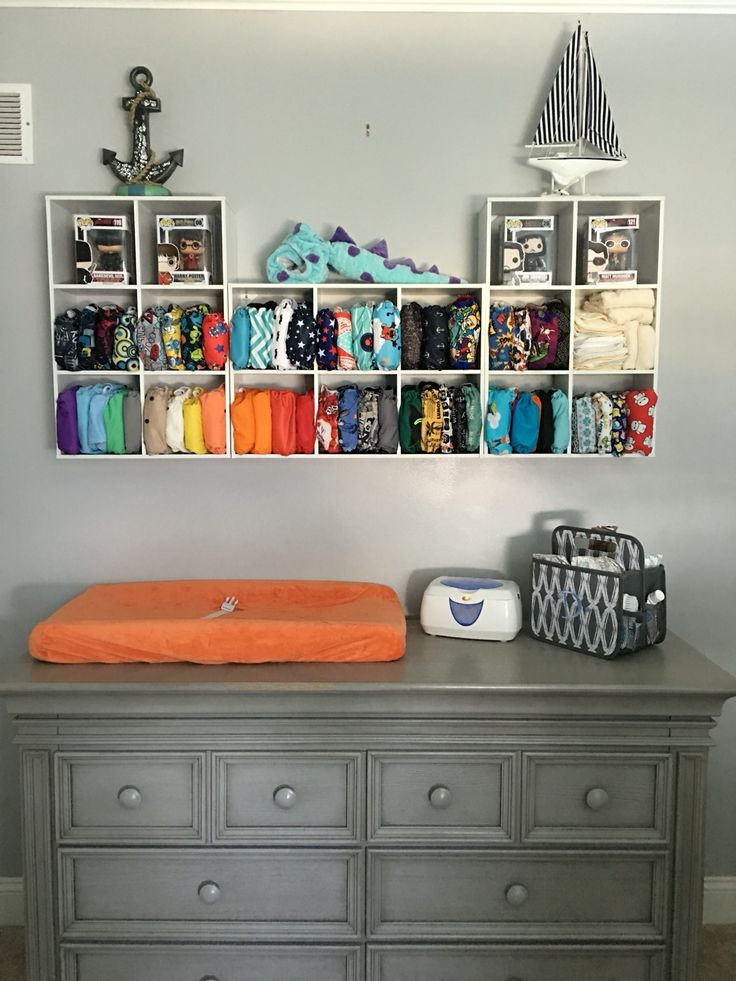 My cloth diapers storage! So colorful