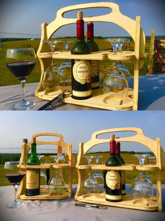 Personalized Wine Tote Wood Wine Caddy Wine Carrier Wine Gift