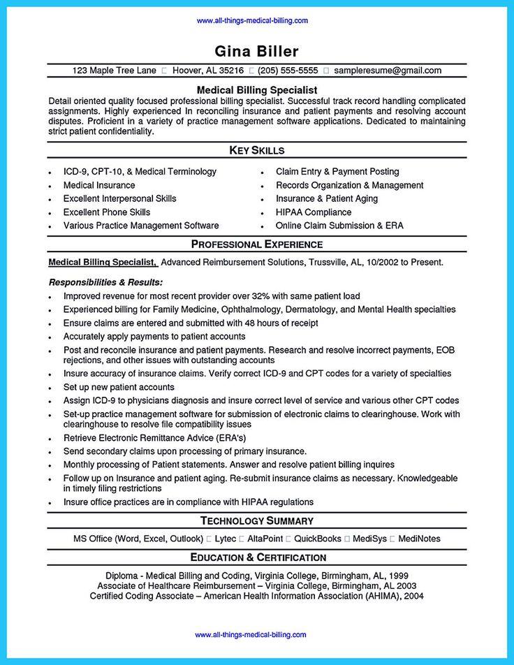 ... Medical Billing Resume Examples Medical Coding Resume Resumes   Medical  Billing Resume ...