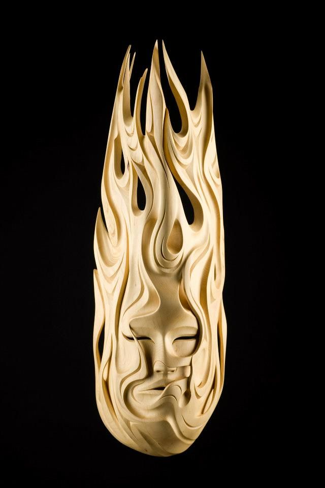 """First Woman"", yellow cedar, by Luke Marston (Coast Salish). Photo by Armstrong Creative."