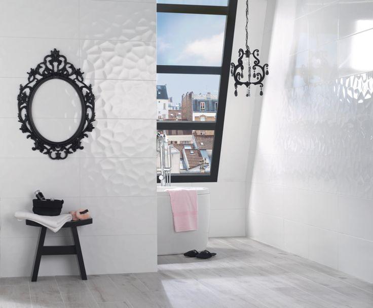 17 meilleures id es propos de salles de bains for Carrelage mural salle de bain point p