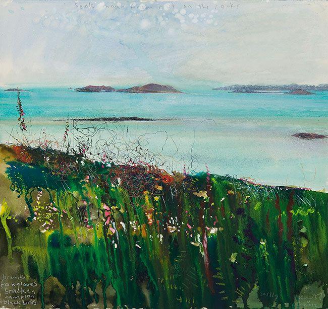 Kurt Jackson: Seals moan out on the rocks. May 2012 Campden Gallery, fine art, Chipping Campden, camden gallery, contemporary, contemporary ...