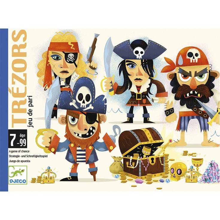 Legújabb Djeco kártyajáték: itt a Trezors! Stratégiai kalózos kártyajáték