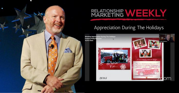 In today's digital world, showing appreciation during the holidays has been overtaken by social media, emails, and text… On this week's Relationship Marketing Weekly Holiday Edition, Relationship Marketing Expert Kody Bateman shares his thoughts on Showing appreciation during the holidays.   Kody discusses why it's so important that business owners and professionals not overlook the importance …