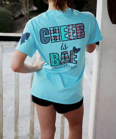 Cheer Is Bae Short Sleeve Tee with Logo Backpack