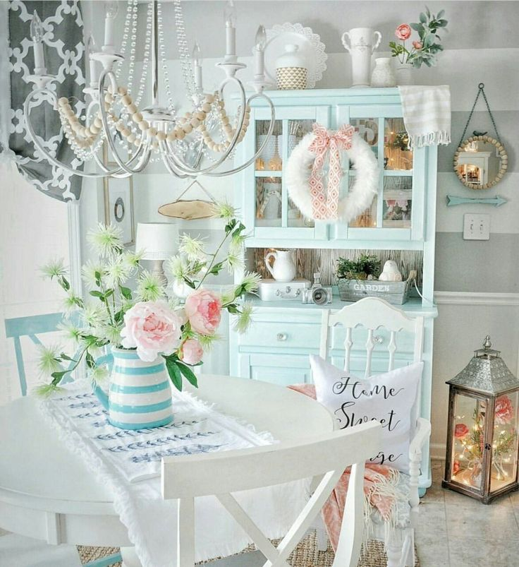 149 best shabby chic kitchen dining room images on - Telas shabby chic ...