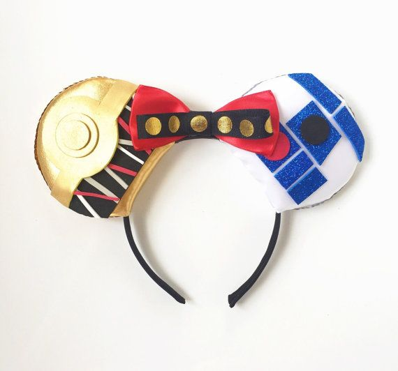 Star Wars C3PO and R2D2 Disney Inspired Ears by ToNeverNeverland