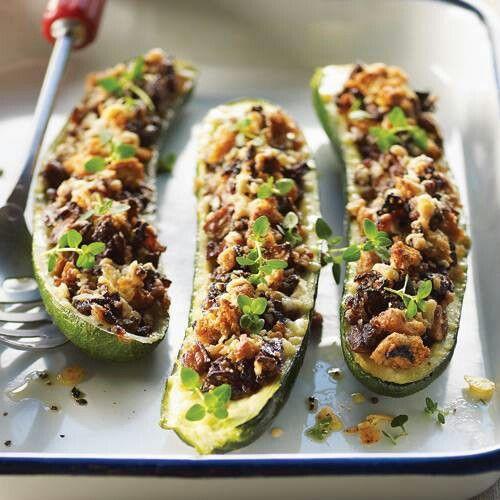 Stuffed zucchini   Food   Pinterest