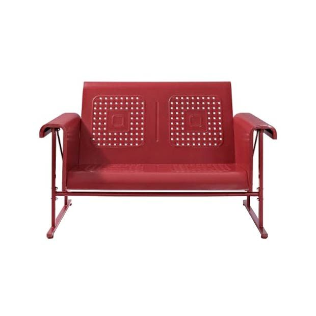 Danny Glider Loveseat in Red | dotandbo.com