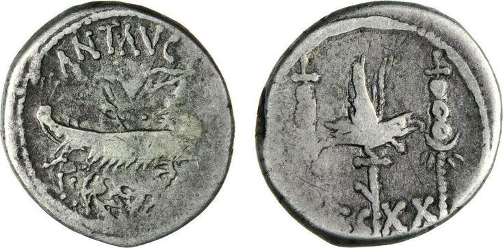 NumisBids: Numismatica Varesi s.a.s. Auction 65, Lot 129 : MARC'ANTONIO (32-31 a.C.) Denario, leg. XX. B. 135 Syd. 1243 ...