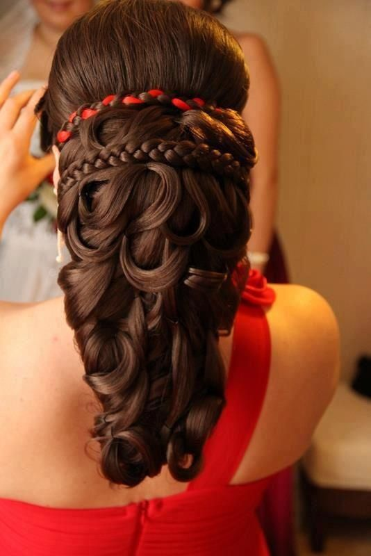 How is the hair held up? Just the band and braid?