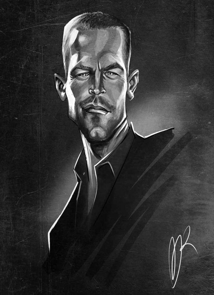 Paul Walker Caricature by Marzio Mariani. #Celebrity #Caricatures #Oddonkey